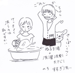 帽子のぬるま湯洗い