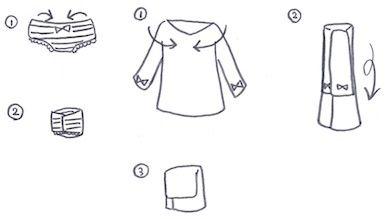 肌着の畳み方