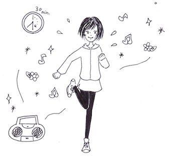 花粉症対策で運動