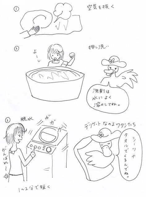 布団の手洗い方法