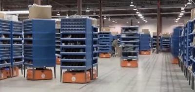 AMAZONの倉庫ロボット