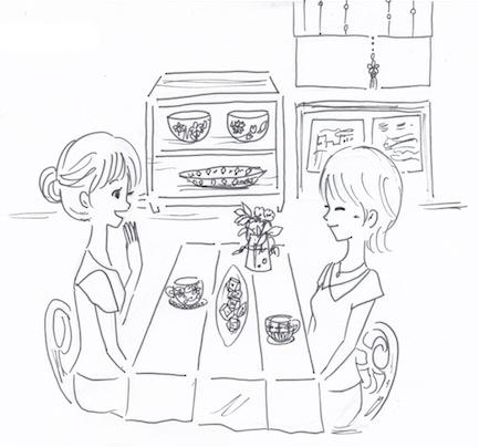 皿を見せる収納