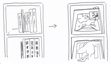 棚に収納する方法