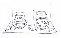 茶碗は余裕をもってシンプルに収納