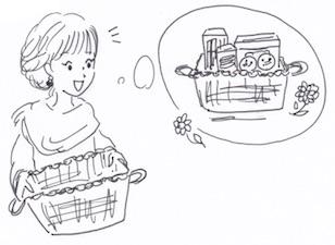 自分好みの箱やケースで食品収納