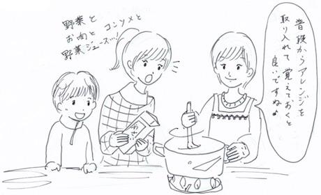 備蓄食品のレシピ