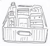 引き出しにキッチン掃除道具を収納