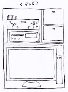クローゼットの棚収納でテレビを置く