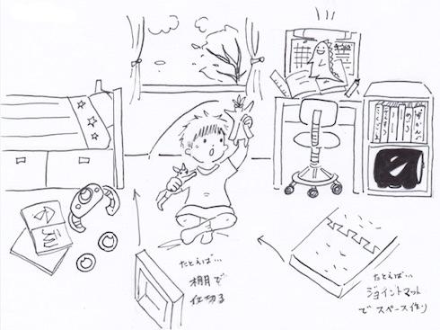 「スペースを仕切る」子供部屋の収納術