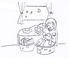 子供用ベッド下の収納