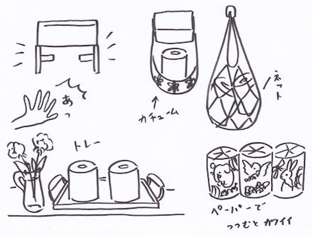 トイレットペーパーの収納術