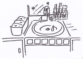 洗面台の収納グッズ