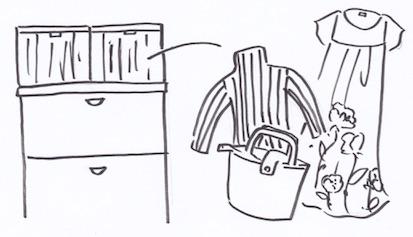 タンス上の収納法