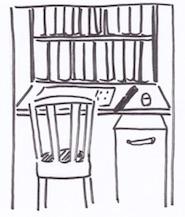 押し入れを隠れ家的書斎にする