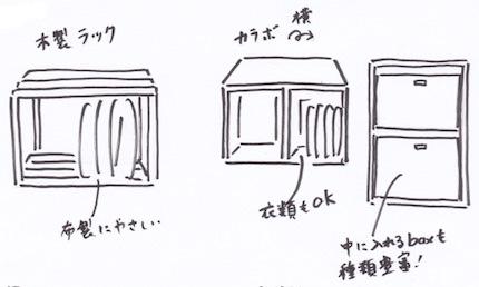 木製の押入れ棚