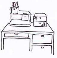 机の上収納は卓上チェストやラック