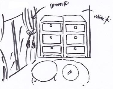 壁面収納棚の色