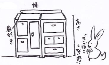 壁面収納棚のサイズ