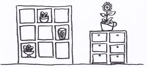 壁面を使った収納法