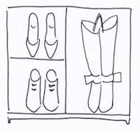 下駄箱の板を外してブーツ収納