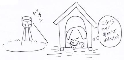 庭収納と番犬