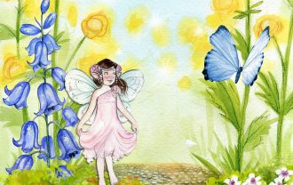 妖精のイラスト絵本