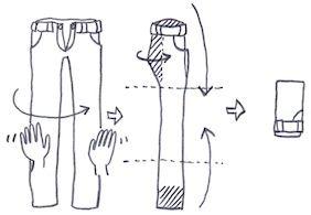 ズボンの畳み方