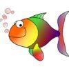 泳ぐ魚のイラスト